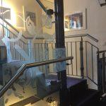 Treppengeländer innen mit Verglasung
