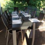 Tisch für bis zu 12 Personen, wetterfest